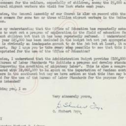 Letter : 1954 May 11