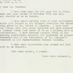 Letter : 1951 December 12