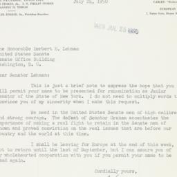 Letter : 1950 July 24