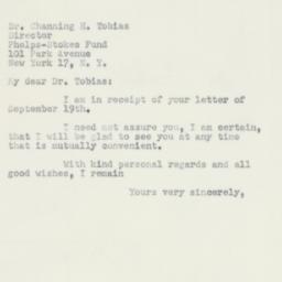 Letter : 1951 September 25