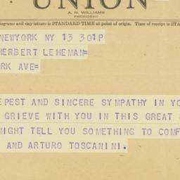 Telegram : 1944 April 13