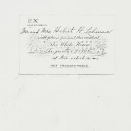 Invitation: 1945 August 19