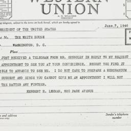 Letter : 1946 June 7