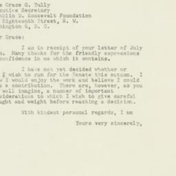 Letter : 1949 August 3