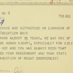 Telegram : 1963 December 7