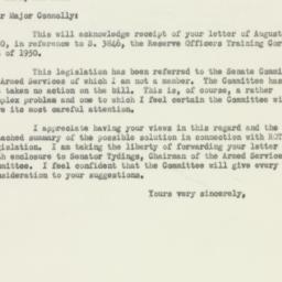 Letter : 1950 August 31