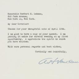Letter : 1947 April 12