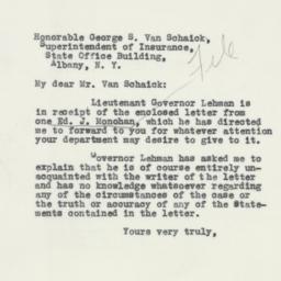 Letter : 1932 November 29