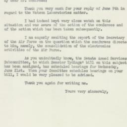 Letter : 1950 June 17