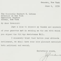 Letter : 1936 June 6