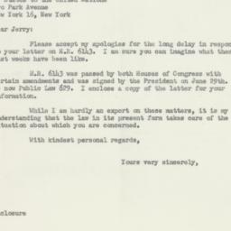 Letter : 1956 August 25
