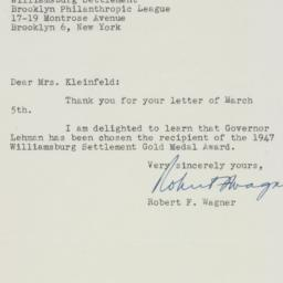 Letter : 1947 March 6