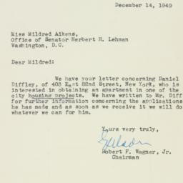 Letter : 1949 December 14