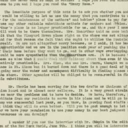 Letter : 1918 June 12
