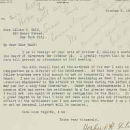 Letter : 1918 October 5