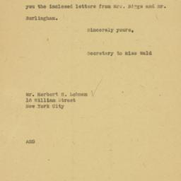 Letter: 1926 December 2