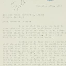 Letter : 1933 December 13