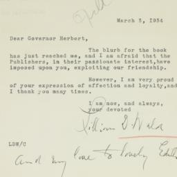 Letter : 1934 March 3