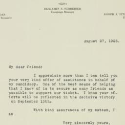 Letter : 1925 August 27