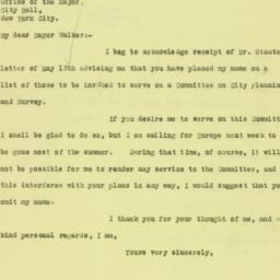 Letter : 1926 May 17