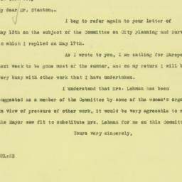 Letter : 1926 May 19