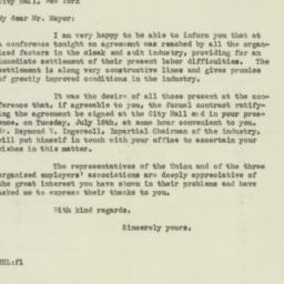 Letter : 1929 July 12
