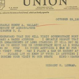 Telegram : 1935 October 29