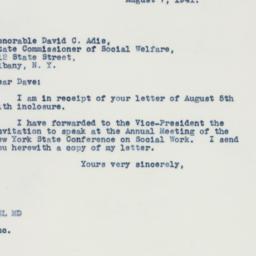 Letter : 1941 August 7