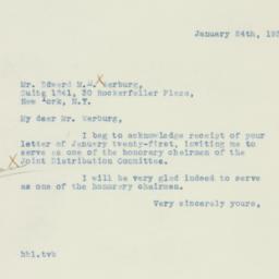 Letter : 1938 January 24
