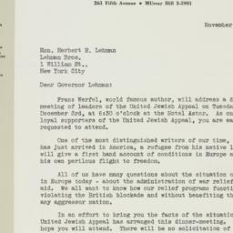Letter : 1940 November 13