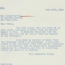 Letter : 1936 July 14