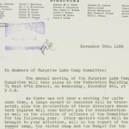 Letter : 1936 November 30
