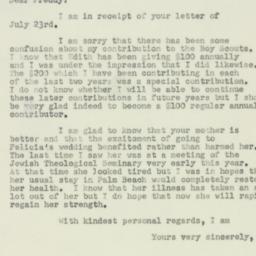 Letter : 1950 July 26