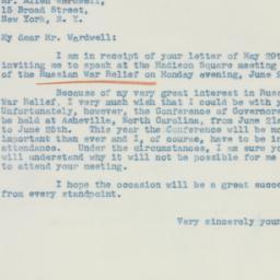 Letter : 1942 June 2