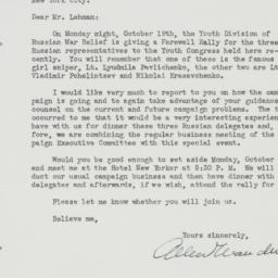 Letter : 1942 October 14