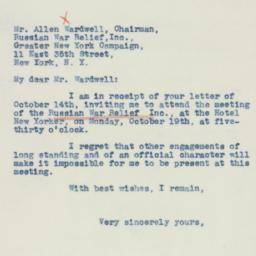 Letter : 1942 October 16