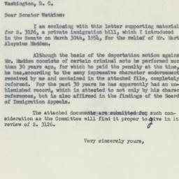 Letter : 1954 April 30