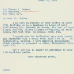 Letter : 1937 March 29