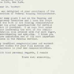 Letter : 1961 January 9