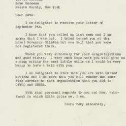 Letter : 1946 September 10
