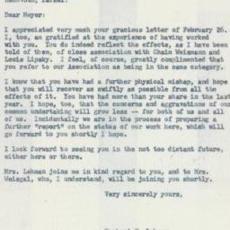 Letter : 1958 March 5