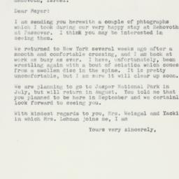 Letter : 1959 June 20