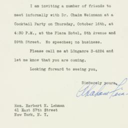 Letter : 1947 October 3