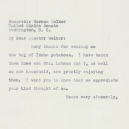 Letter : 1951 March 12