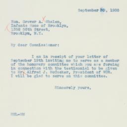 Letter : 1935 September 30