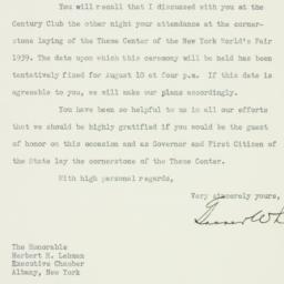 Letter: 1937 July 8