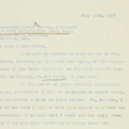 Letter : 1937 July 12