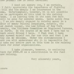 Letter : 1947 May 21