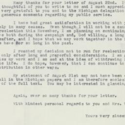 Letter : 1956 August 26