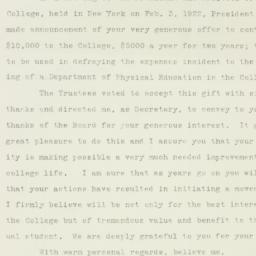 Letter : 1922 February 15